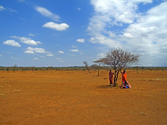 Maasai living near Amboseli National Park