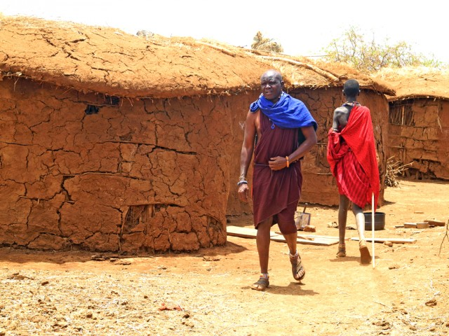 Traditional Maasai houses